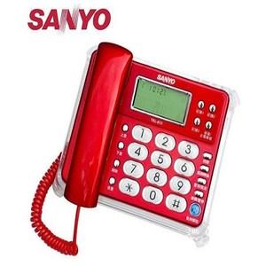 三洋 SANYO 來電顯示有線電話 TEL-813  紅