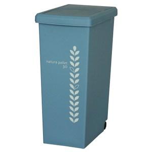【this-this】滑蓋式垃圾桶30L-水藍色