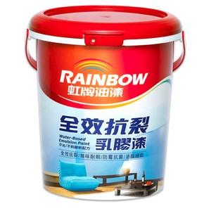 虹牌油漆 彩虹屋 全效抗裂乳膠漆 小鴨黃 1G