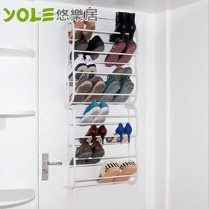 【YOLE悠樂居】多功能收納八層門後鞋架-白色#1327057-2