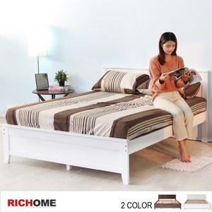 【RICHOME】北歐浪漫6呎大雙人床-2色白色