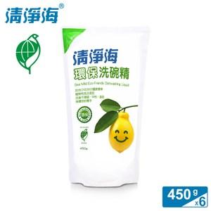 清淨海 檸檬系列環保洗碗精補充包 450g (6入組)