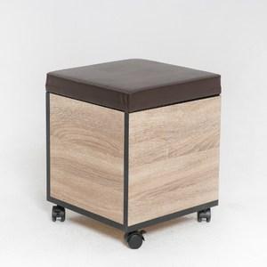 【IDEA】典雅全實木大容量收納款椅凳(附滑輪)