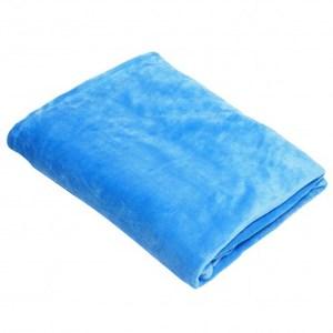 時尚法蘭絨毯靛藍