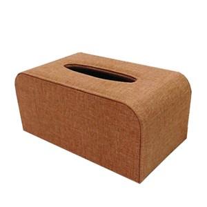 品味布緻面紙盒 大理橘