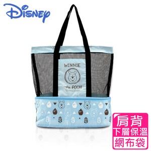 【Disney 迪士尼】野餐維尼肩背保冷保溫休閒袋(2色可選)卡其色