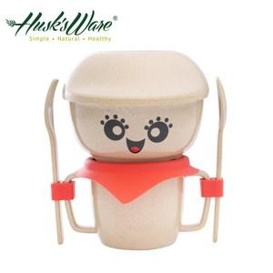 美國Husk's ware 稻殼天然無毒環保兒童餐具經典人偶迷你款(紅色)