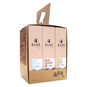【鹿窯菇事】講菇事三入禮盒原秀+芥香+素肉乾