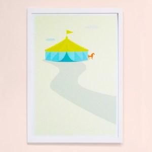 【摩達客】西班牙知名插畫家Judy Kaufmann藝術創作海報版畫掛畫裝飾畫-馬戲團