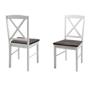 艾巴自然風雙色餐椅 二入組 44.5x48x89cm (單個尺寸)