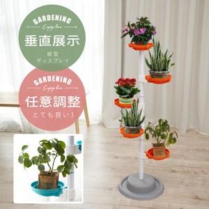 【Abans】居家新型專利360度旋轉活動式盆栽架/收納架(橘色1入)