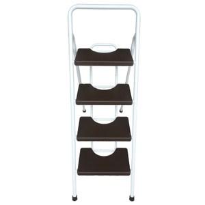 四階彩色寬踏板鐵管梯 咖啡色