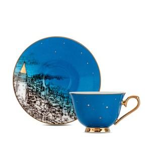 【Royal Duke】骨瓷濃縮咖啡對杯-薩爾斯堡(經典藍)