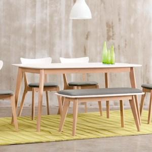 【YFS】派特蘿配色餐桌椅組120x75x74.5cm(1桌1凳2椅)