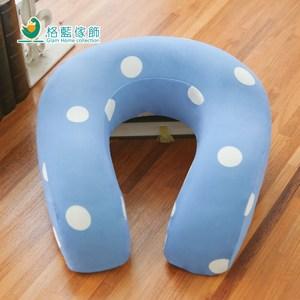 【格藍傢飾】水玉涼感舒壓護頸枕-蘇打藍(大)