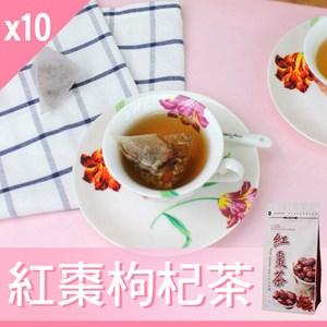 【Mr.Teago】紅棗枸杞茶-3角立體茶包-27包/袋-10袋紅棗枸杞茶