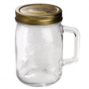 Glasslock附手柄玻璃密封罐750ml