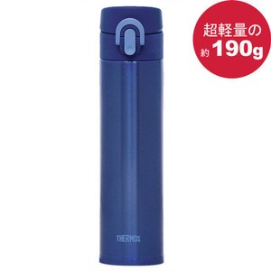 THERMOS膳魔師 超輕量不鏽鋼真空彈蓋保溫杯保溫瓶400ml 藍色