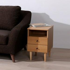 《C&B》代代木和風實用收納床邊櫃(兩色可選)原木色