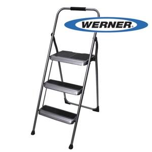 美國Werner穩耐安全鋁梯-S323-6三階家用梯/A字梯