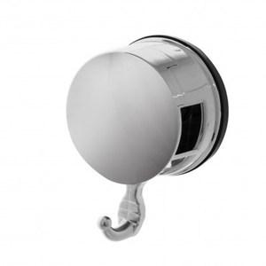 HOLA home吸盤鍍鉻輕巧掛鉤 (2入)