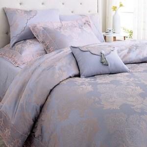 HOLA home 藤香木棉絲蕾絲七件式床罩組 雙人