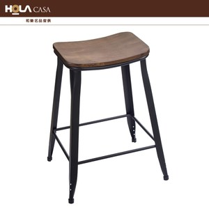 HOLA CASA 工業風木質吧檯椅