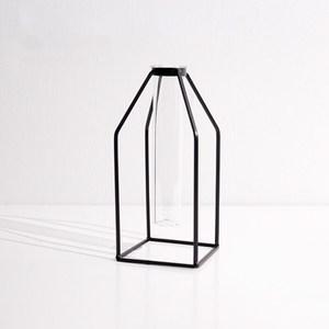 歐式幾何簡約植栽小花瓶裝飾 方底
