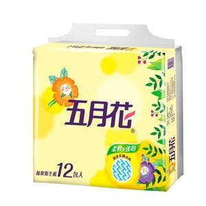 【五月花】花園版抽取式衛生紙100抽*12包*6袋/箱