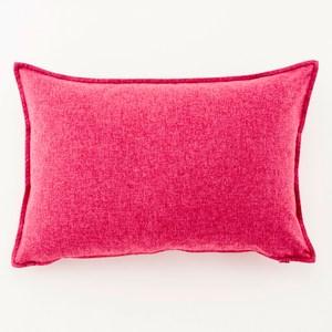 HOLA 馥芮素色壓邊羽絲棉抱枕 40x60cm 馥玫紅