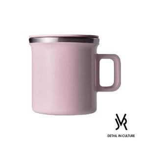 JVR 韓國原裝 MONO MUG馬卡龍不銹鋼馬克杯360ml粉色
