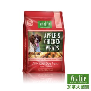 加拿大國寶 純天然無添加寵物零食-蘋果雞肉捲454g(D001B06)