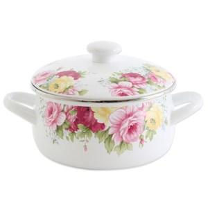 【RISOTTO】法式庭園琺瑯系列-古典玫瑰雙耳湯鍋1.7L