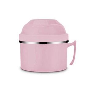 HOLA 304不鏽鋼雙層隔熱快餐杯1200ML-粉