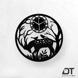 DT Time童話木質系列時鐘-時鹿