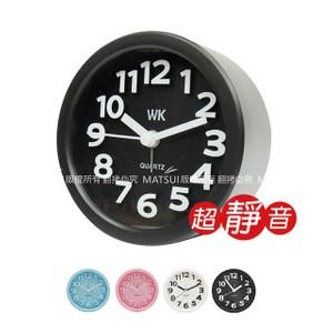 無敵王 小圓形 立體數字鬧鐘(粉/藍/白/黑) WK-1303A
