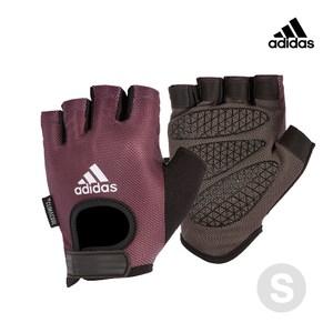 Adidas Training 女用彈性半指手套(薄霧紫) S