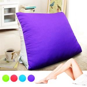 【KOTAS】大型 滾邊 抬腿記憶枕/靠枕(四色款) 抬腿記憶枕-紫