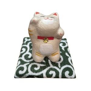 京都職人和紙迷你招財猫 茶虎