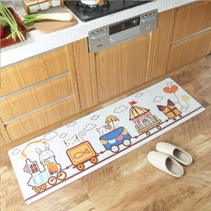 【三房兩廳】廚房踏墊皮革地墊45x75cm(奇趣旅途)