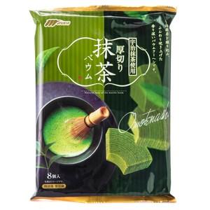 日本 丸京 厚切年輪小蛋糕 抹茶 8個入 Marukin