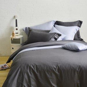 Cozy inn簡單純色-200織精梳棉被套-雙人(多款顏色任選)鐵灰