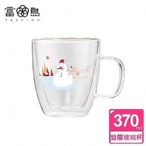 【FUSHIMA 富島】聖誕Joy樂摯雙層耐熱玻璃杯雪人款(把手)單一規格