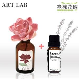 【日本Art Lab香氛實驗室】典雅香氛-君子蓮花+純植物精油薰衣草