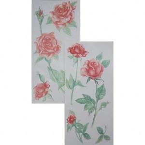 義大利HOME DÉCOR壁貼Sx2 紅玫瑰C59156A
