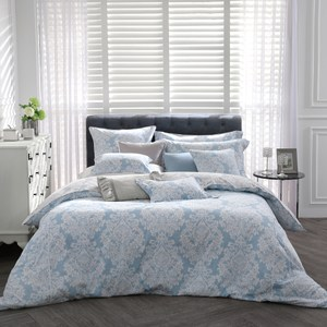 【BBL Premium】古典風姿100%精梳棉.印花雙人兩用被床包組
