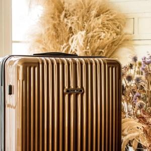 NaSaDen 22吋超輕行李箱-無憂系列-4色可選帕倫咖啡金