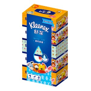 舒潔 迪士尼溫和柔感盒裝面紙140抽(5盒x10串/箱)