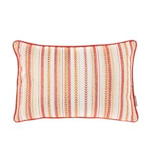 HOLA 貝絲繡花抱枕30x45cm 珊瑚粉