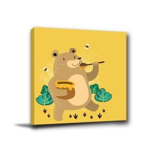 24mama掛畫-單聯式 熊無框畫 小孩房佈置 30x30cm